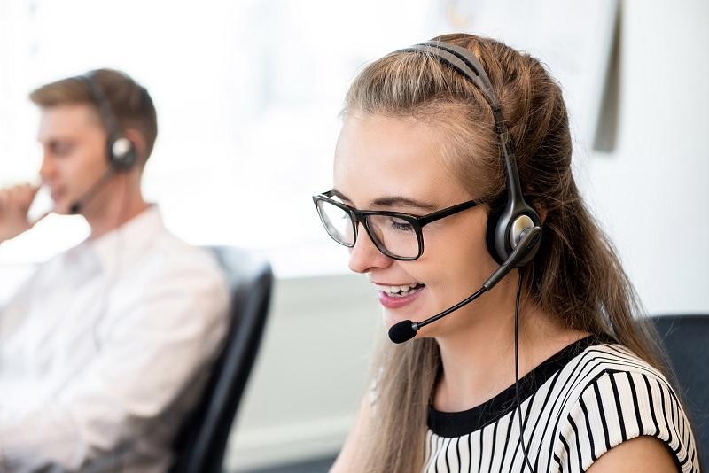 A call center support agent.