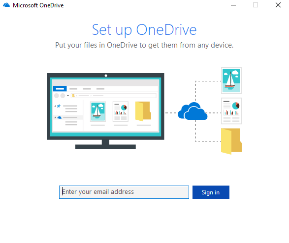 A picture of the OneDrive tool in action.