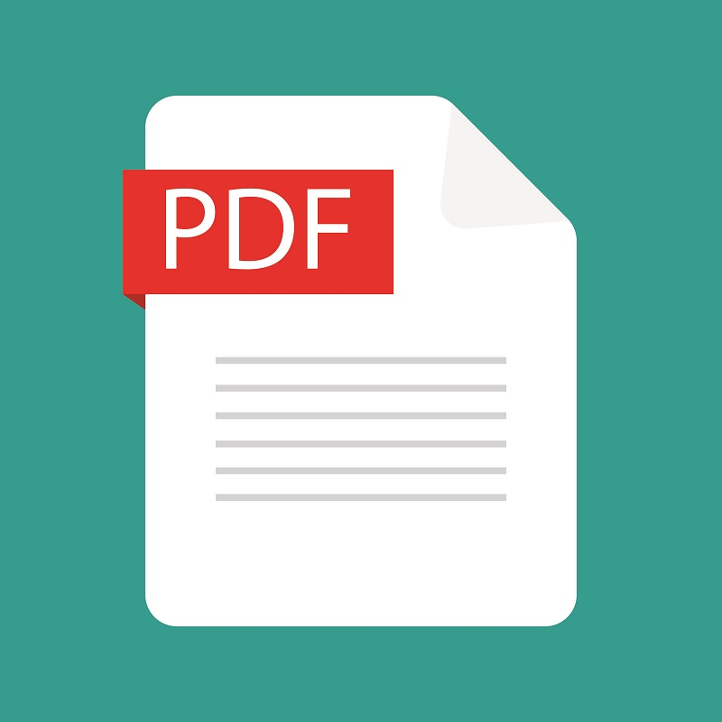 A screenshot of the PDF logo.