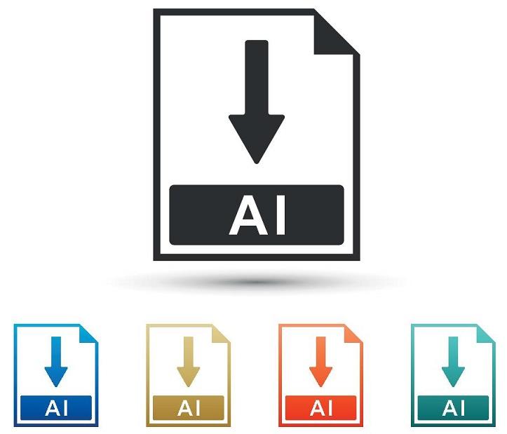 A screenshot of the AI logo.