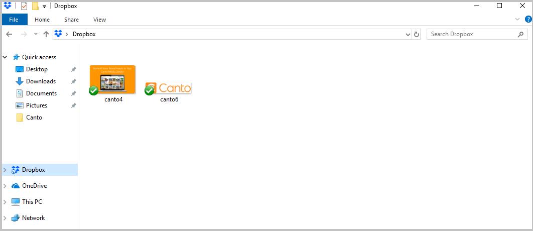 A screenshot of the Drobox interface.