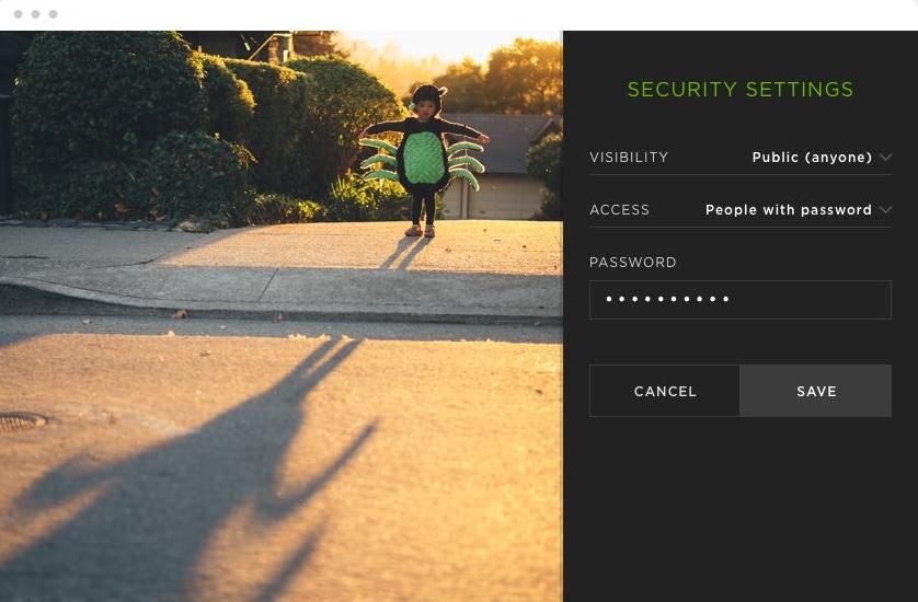 A screenshot of the SmugMug interface.