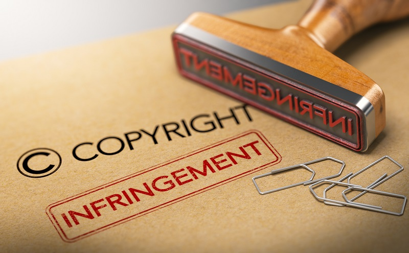 A copyright rubber stamp.
