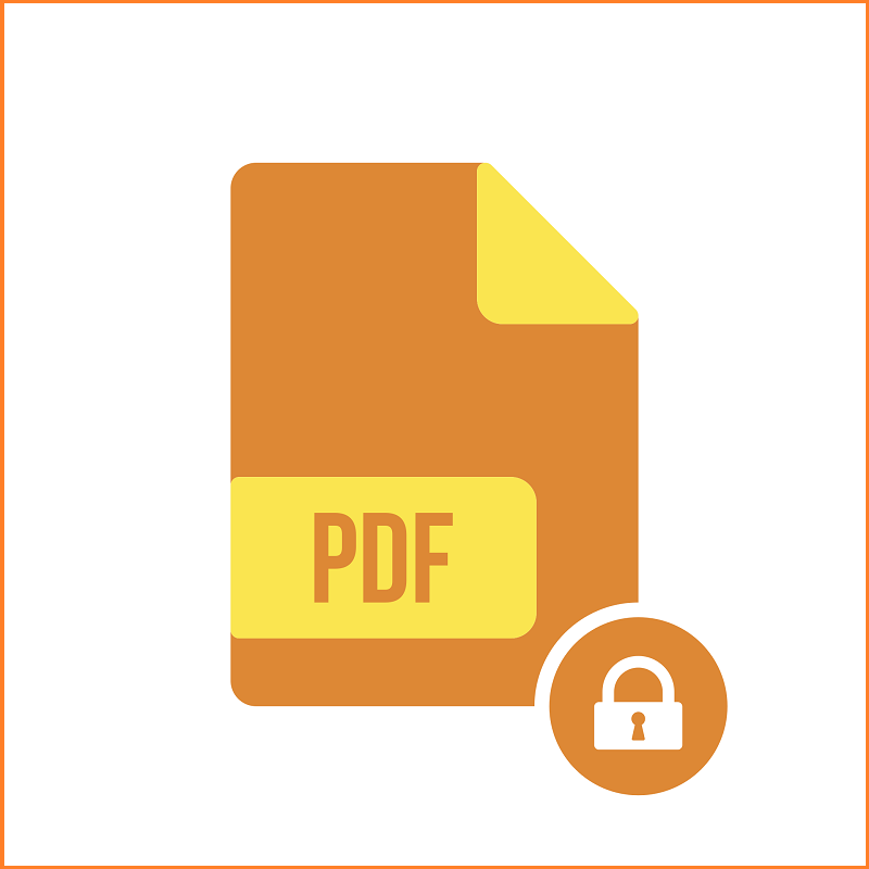 An icon of a locked PDF file.