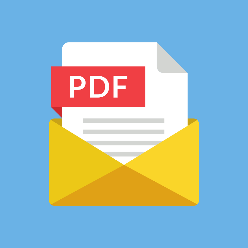 An animated PDF icon.