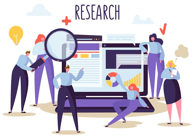 An animated representation of research.