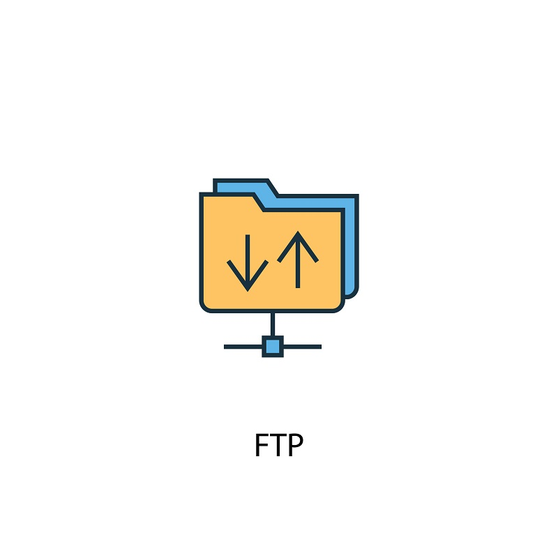 An FTP logo animated.