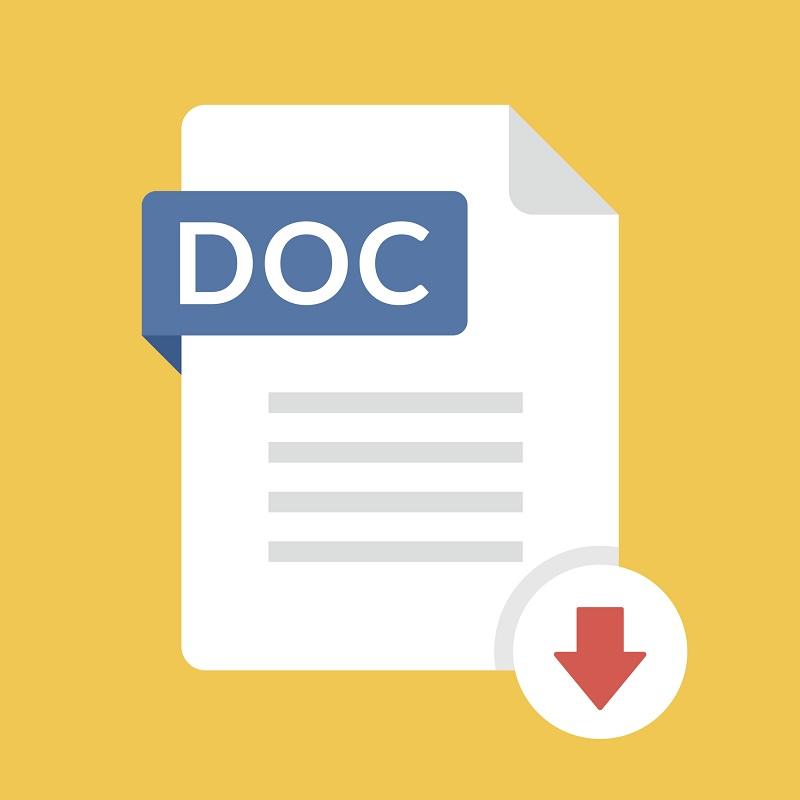 The DOC file icon.