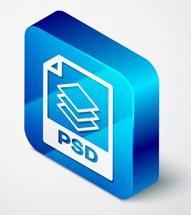 The PSD icon in a blue cube.