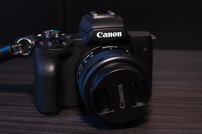 A picture of a Canon camera.