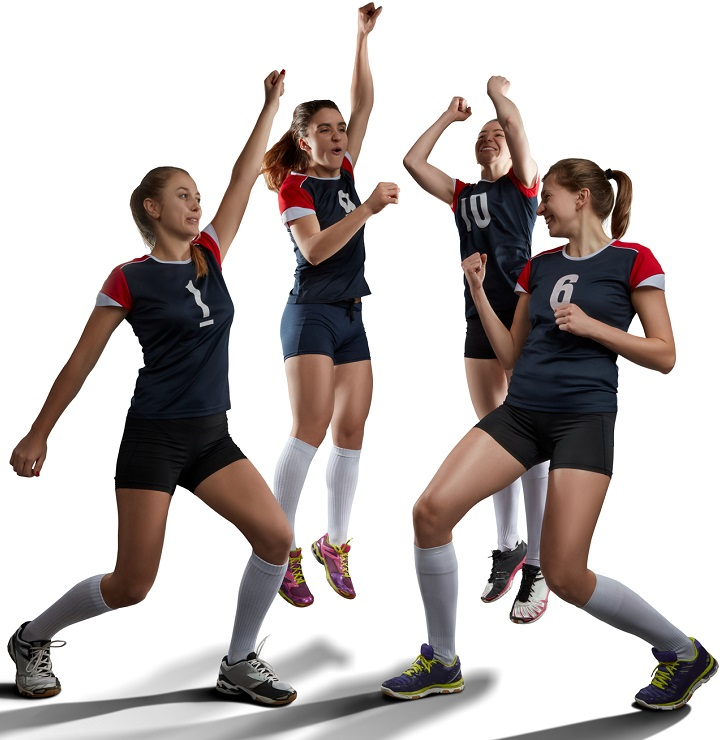 A group of women's volleyball players.