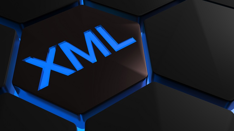 A picture of the XML logo in a pattern.