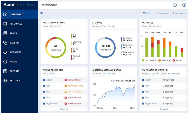 A screenshot of Acronis
