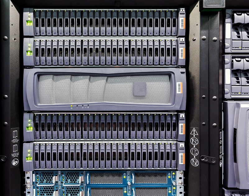 A picture of a computer server.
