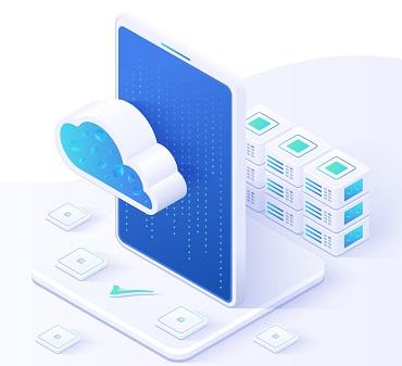 A cloud server illustration.