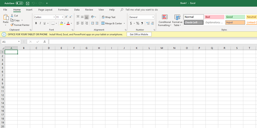 A screenshot of Micrsoft Excel.