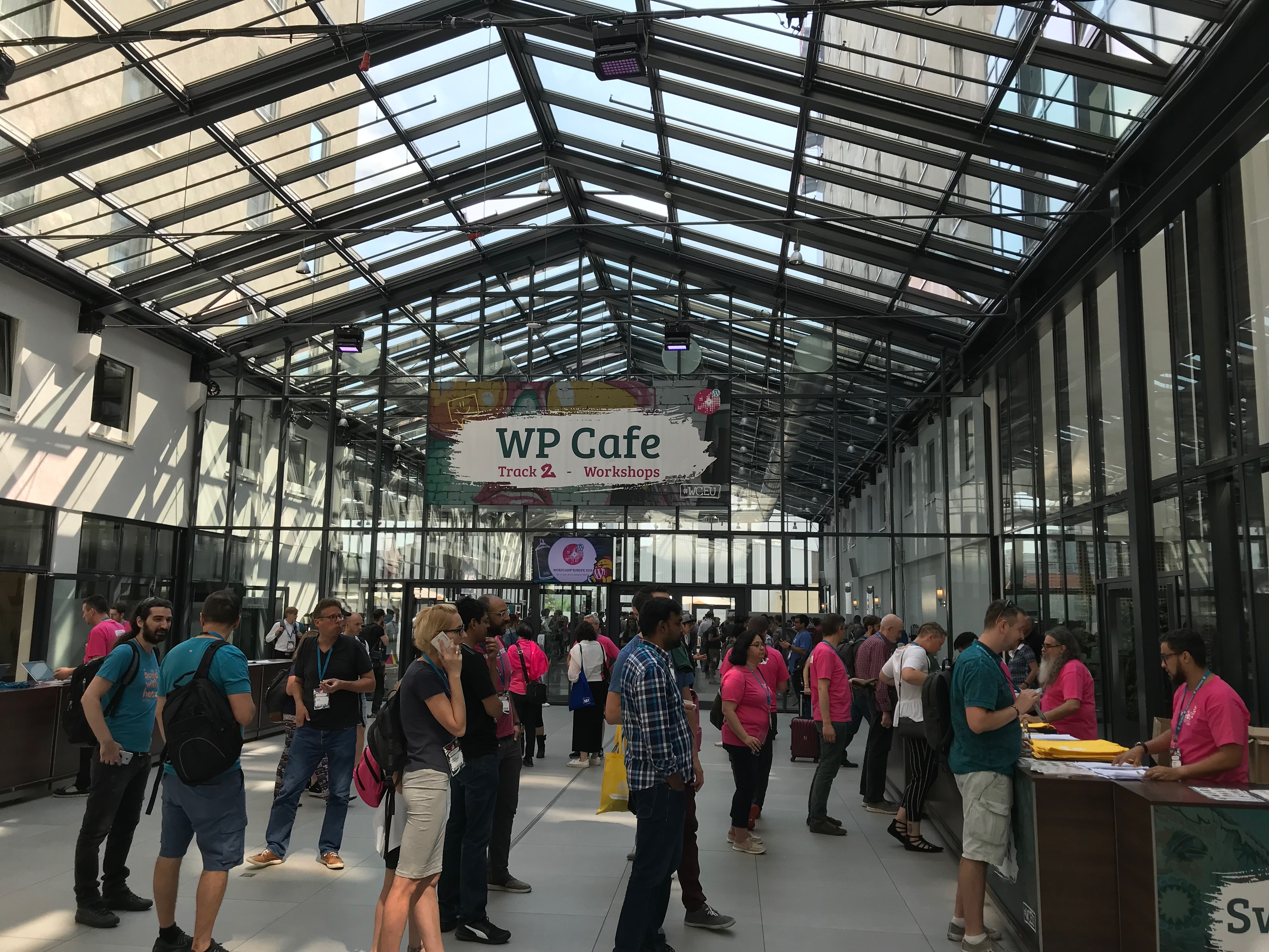 People attending the WordCamp 2019.