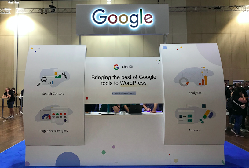 Google's booth at WCEU 2019