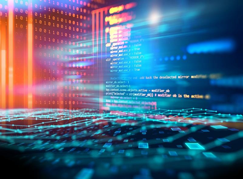 A display of digital data.