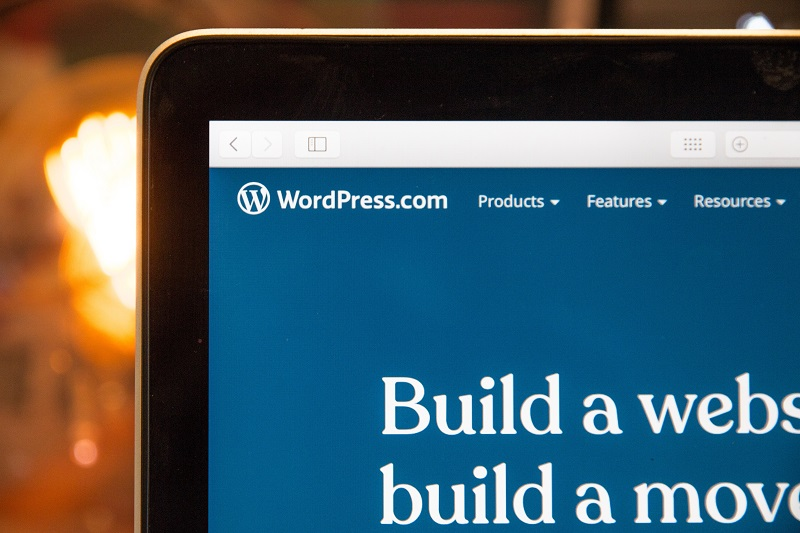 A picture of a laptop using WordPress.