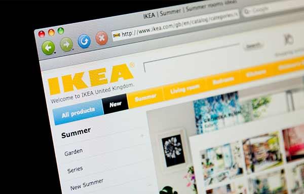 Die Webseite von IKEA.