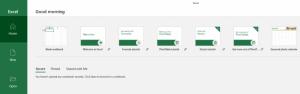 Ein Screenshot der Startseite für XLS-Dateien.