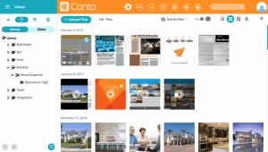 Ein Screenshot der Benutzeroberfläche von Canto.