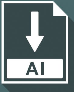 Ein Screenshot des Logos einer AI-Datei.