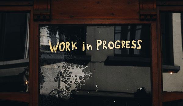 Ein Bild, das sagt 'noch in Arbeit'.