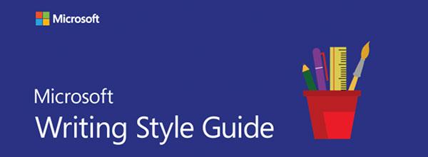 Der Styleguide von Microsoft.