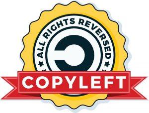 Ein Copyleft-Symbol.