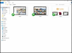 Ein Screenshot von Dropbox im Einsatz.
