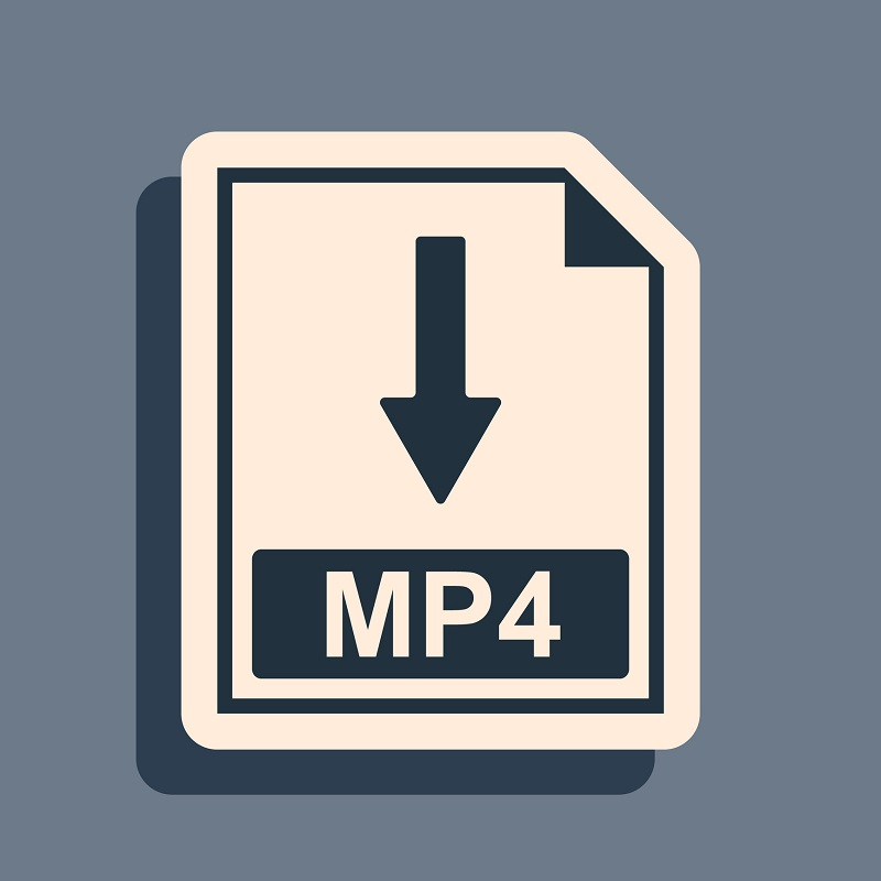 An MP4 icon downloading.
