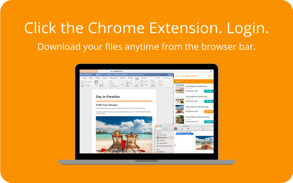 Canto Chrome extension