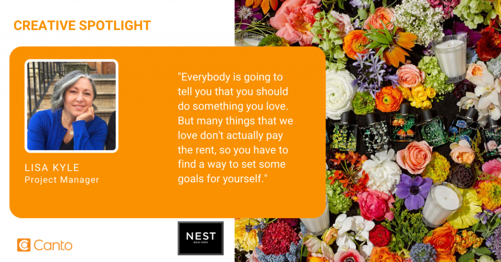 Lisa Kyle, Project Manager of Design and Photography at NEST Fragrances.