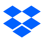 The logo of Dropbox.