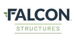 The logo of Falcon Structures.