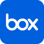 The logo of box.com.