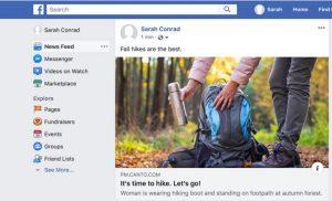 Screenshot von Facebook mit einem Bild, das aus dem DAM-System von Canto heraus freigegeben wurde.