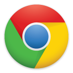 The logo of Google Chrome.