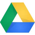 The logo of Google Drive.