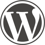 The logo of WordPress.