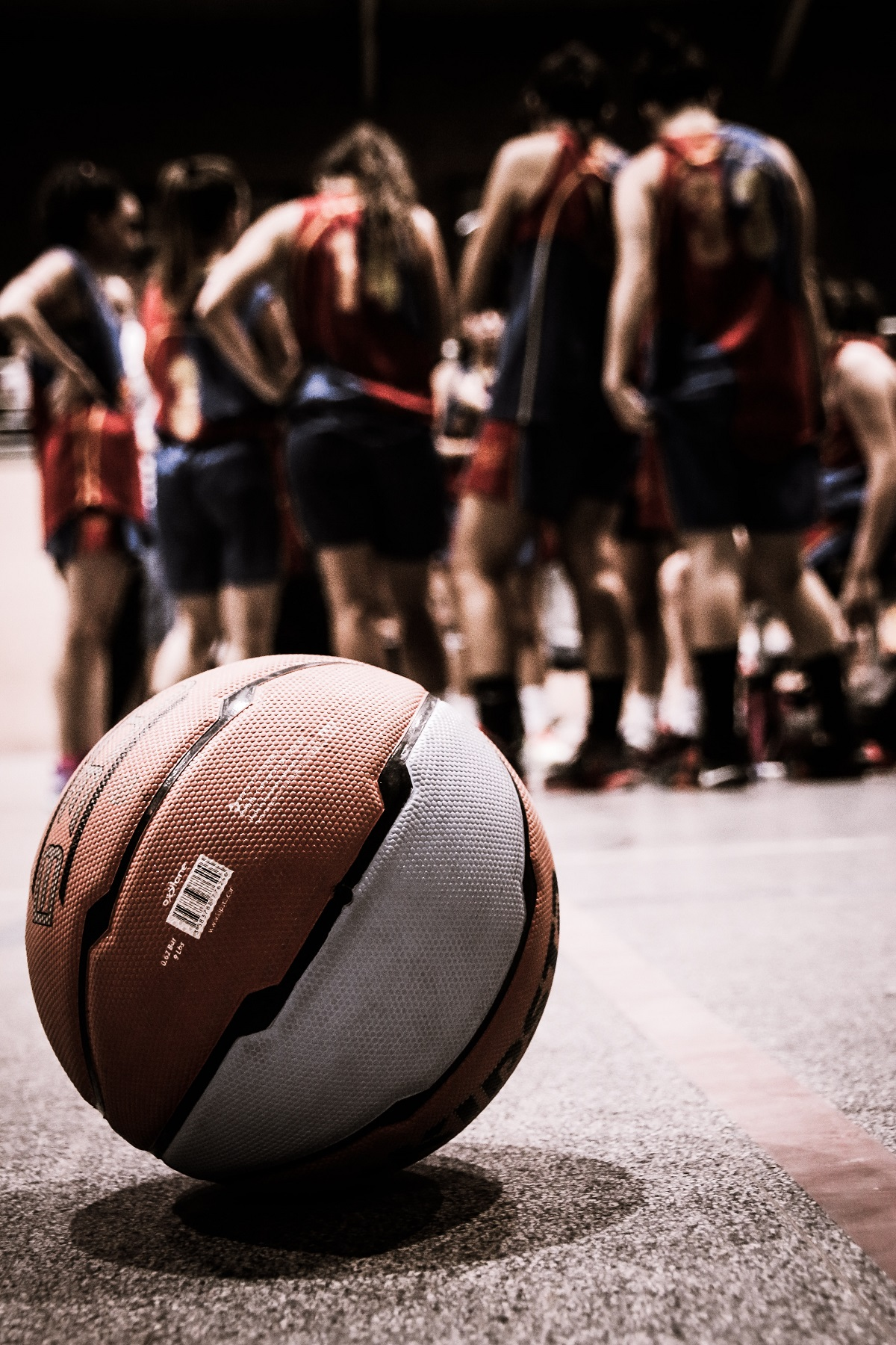 A basketball team.