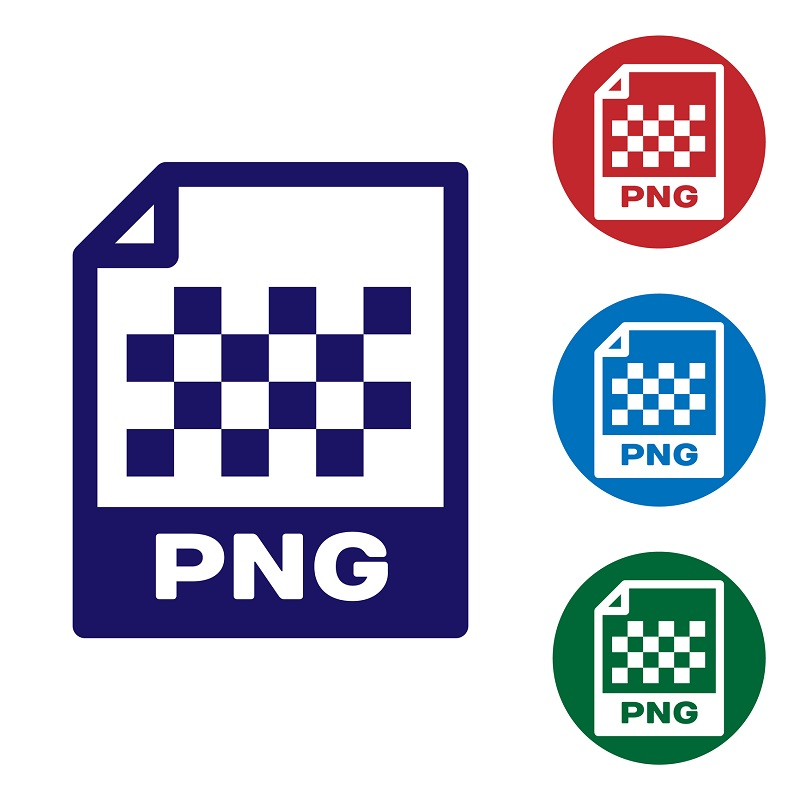 The PNG image file icon.