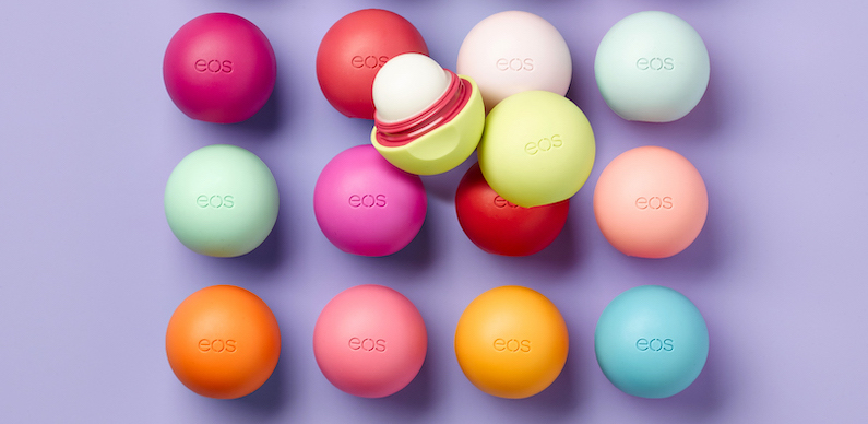 Lip balms from eos.