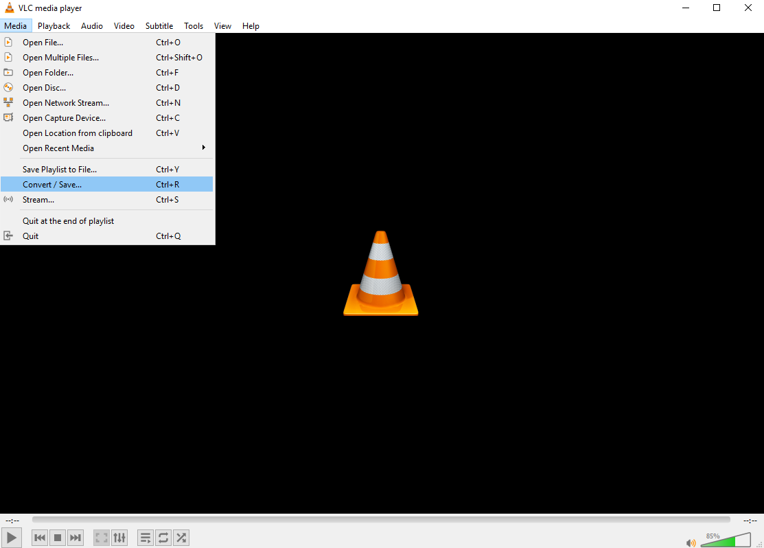 A screenshot of the VLC media player interface.