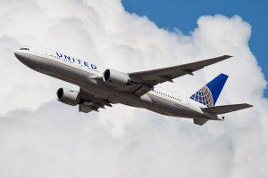united airlines plane frankfurt