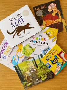Some of the cute books we donated to Tandem's book drive!