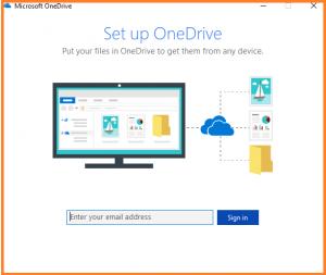 Eine Abbildung der Benutzeroberfläche von OneDrive.