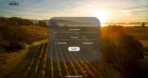 The login screen of Francis Ford Coppola Winery